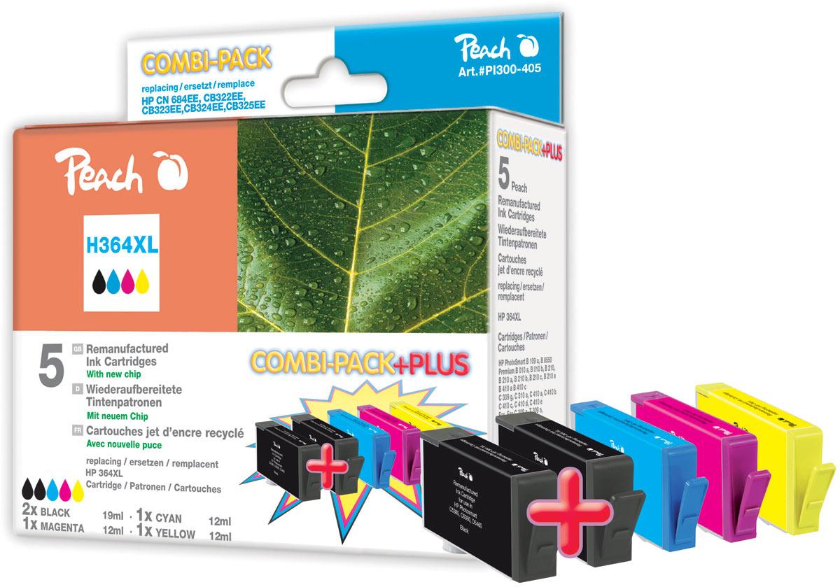 kompatible hp 364 xl druckerpatronen mit chip peach. Black Bedroom Furniture Sets. Home Design Ideas