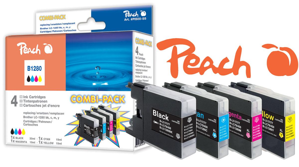 Kompatible LC-1280 Tintenpatronen Peach