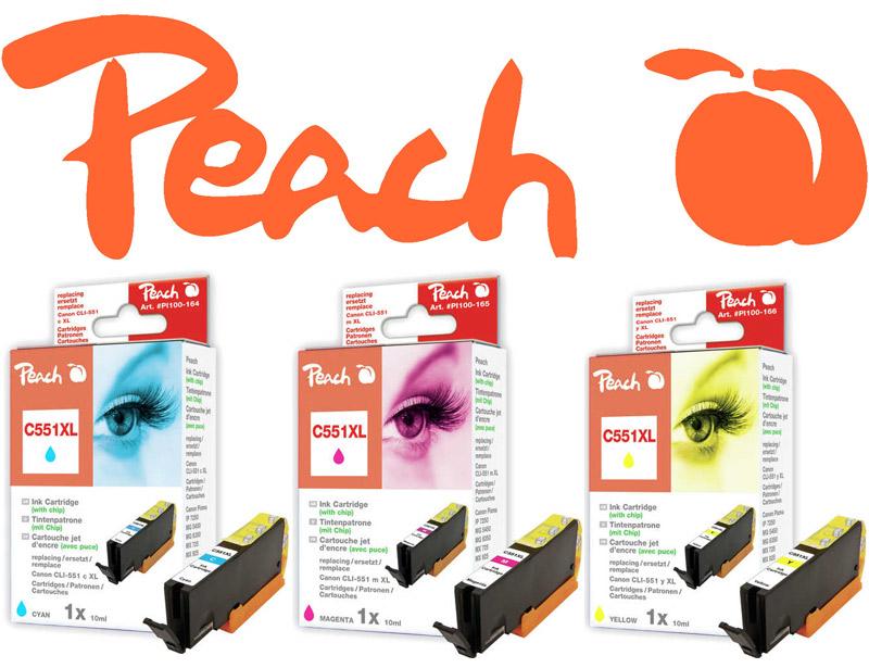 Peach CLi-551 Druckerpatronen