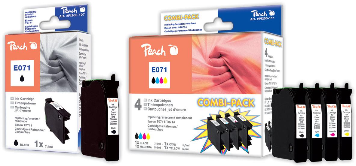 epson t0711 tintenpatronen peach tintenpatronen toner. Black Bedroom Furniture Sets. Home Design Ideas