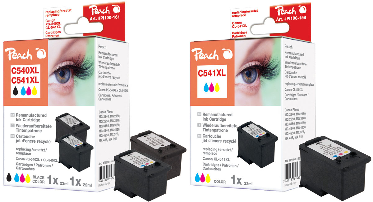 canon pg 540xl druckerpatronen peach tintenpatronen toner. Black Bedroom Furniture Sets. Home Design Ideas