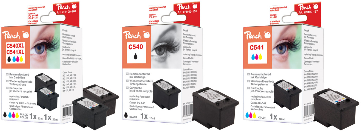 canon pg 540xl patronen peach tintenpatronen toner. Black Bedroom Furniture Sets. Home Design Ideas