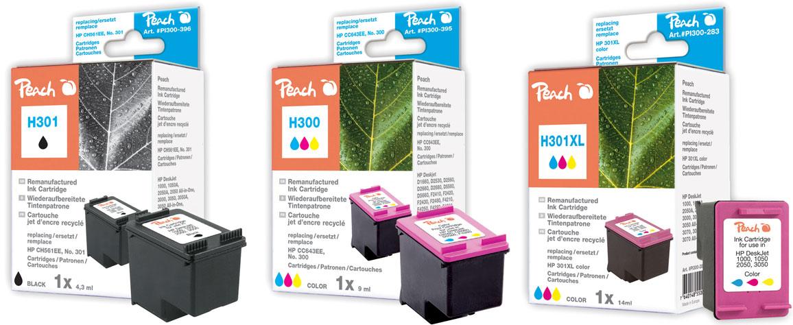 hp 301 druckerpatronen black peach tintenpatronen toner. Black Bedroom Furniture Sets. Home Design Ideas