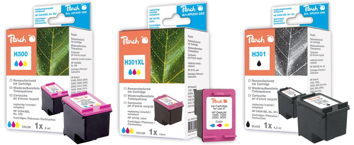 hp 301xl patronen peach tintenpatronen toner. Black Bedroom Furniture Sets. Home Design Ideas