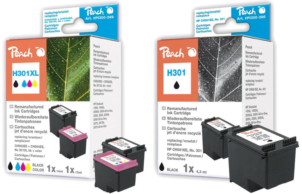 hp 301 druckerpatronen peach tintenpatronen toner. Black Bedroom Furniture Sets. Home Design Ideas