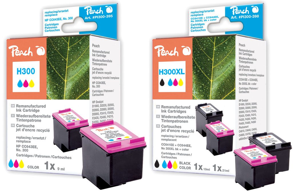 hp 300 patronen farbe peach tintenpatronen toner. Black Bedroom Furniture Sets. Home Design Ideas