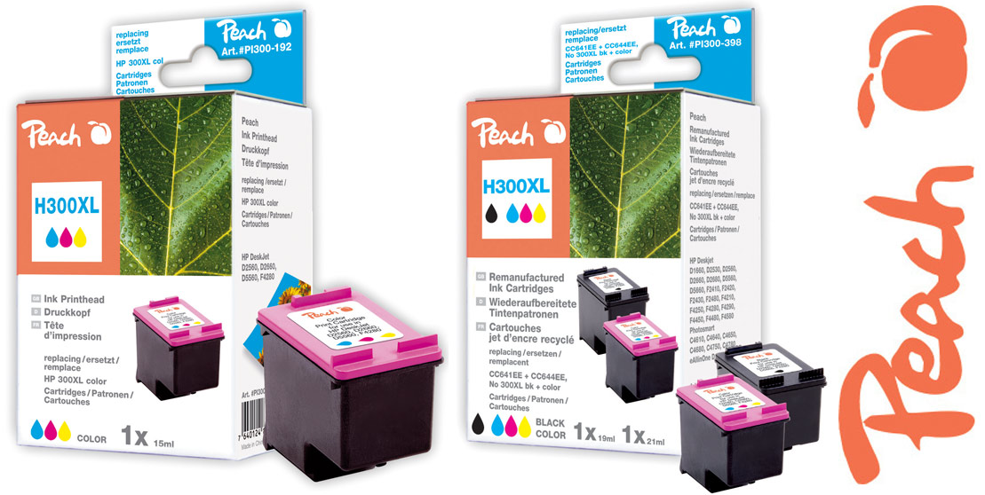 hp 300xl druckerpatronen farbe peach tintenpatronen toner. Black Bedroom Furniture Sets. Home Design Ideas