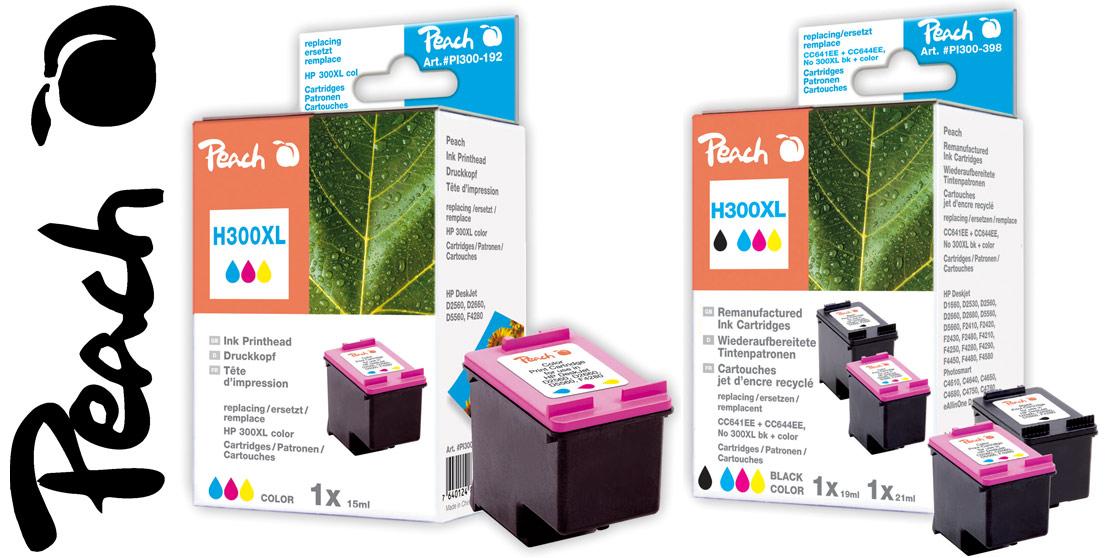 hp 300 patronen black peach tintenpatronen toner. Black Bedroom Furniture Sets. Home Design Ideas