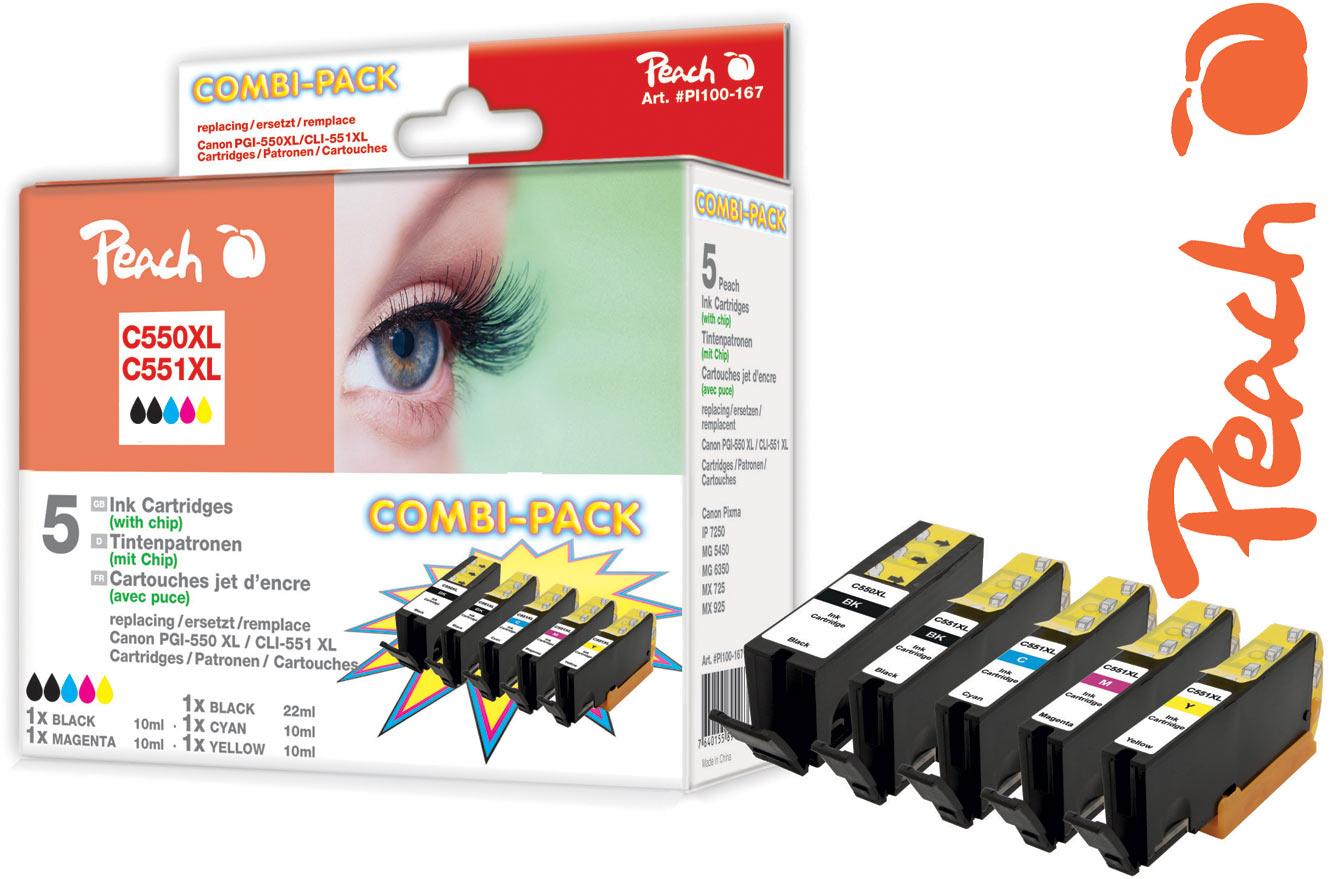 PGi-570 Tintenpatronen und CLi-571 Druckerpatronen Vorgänger PGi-550 und CLi-551 als Alternativen von Peach