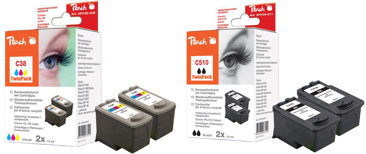 kompatible druckerpatronen peach tintenpatronen toner. Black Bedroom Furniture Sets. Home Design Ideas