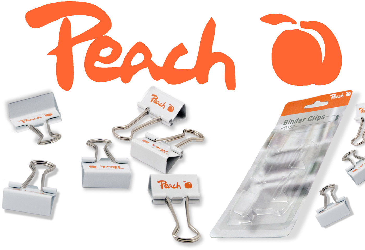 Peach Binder Clips